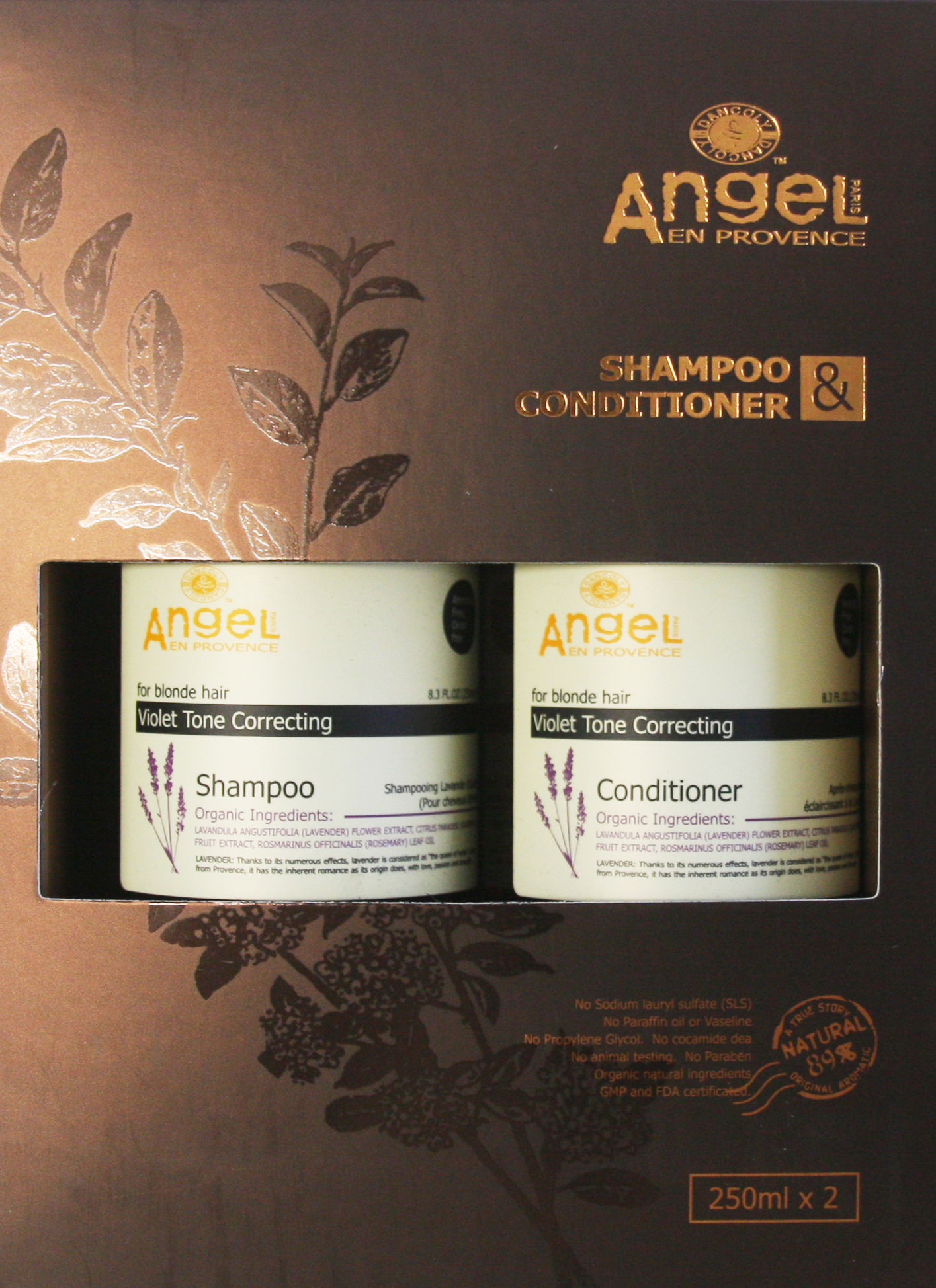 Angel Lavender Toning Duo 250ml Hair Products New Zealand Nation